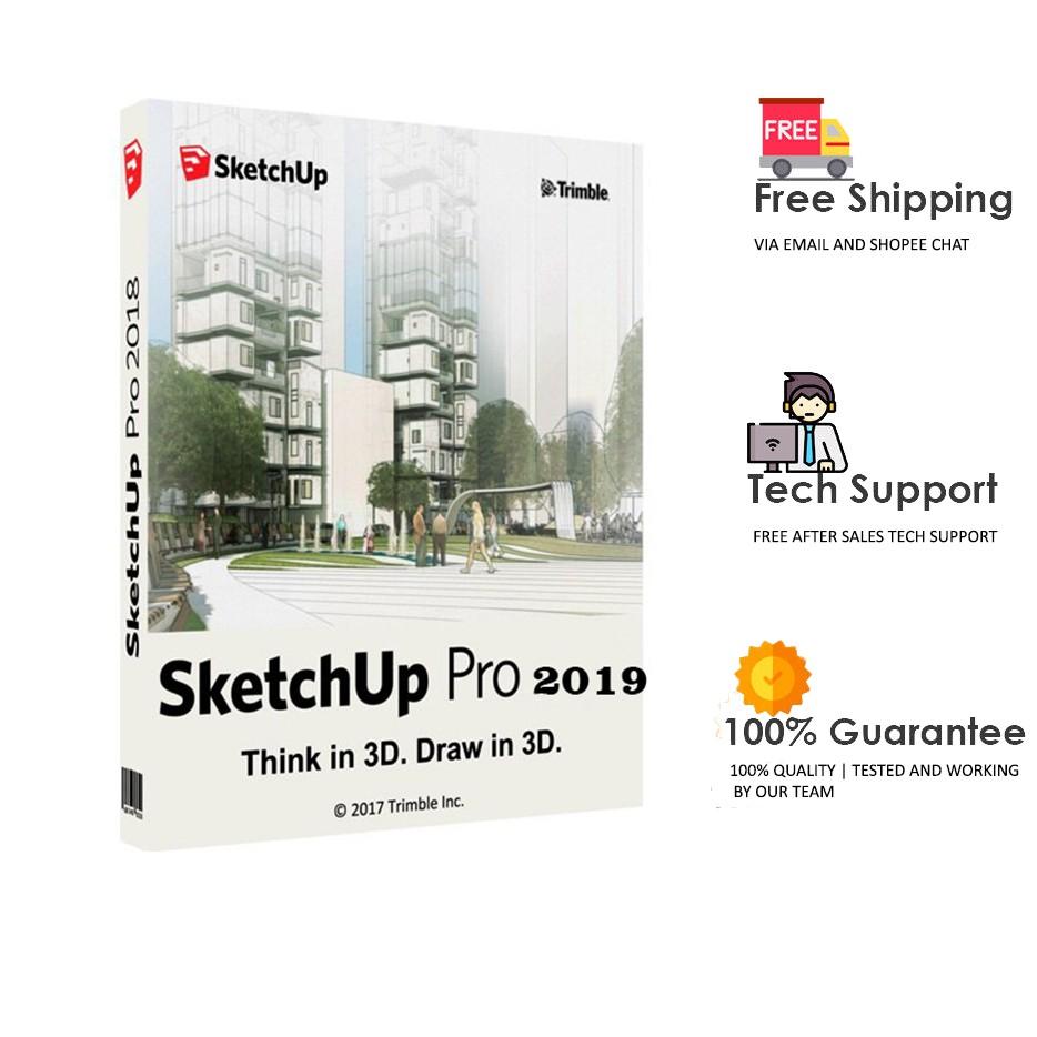 SketchUp Pro 2019 19  (x64) + Vray 4 - Full Version